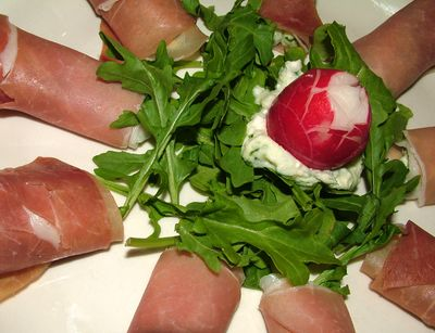Prosciutto with cheese