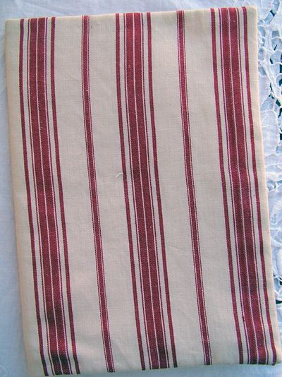 Red striped linen