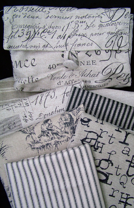 Ticking and toile4